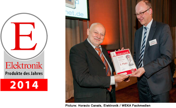 Product of the Year 2014 - Award Ceremony, Herbert Demmel receiving the prize