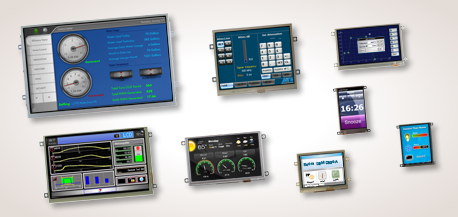 "demmel products gmbh: The iLCD Panels Produkt Line. Intelligent Displays from 2.8"" up to 10.2"""